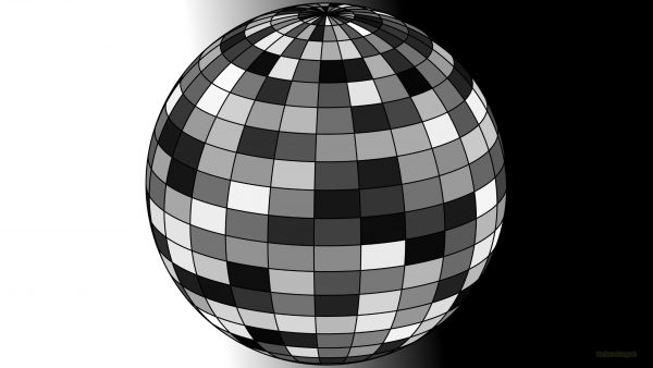 Black white 3D ball wallpaper