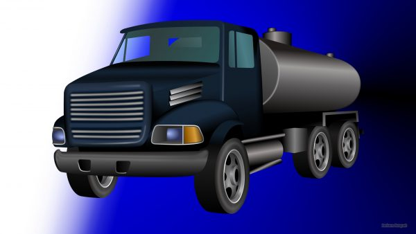 Blue HD wallpaper with truck