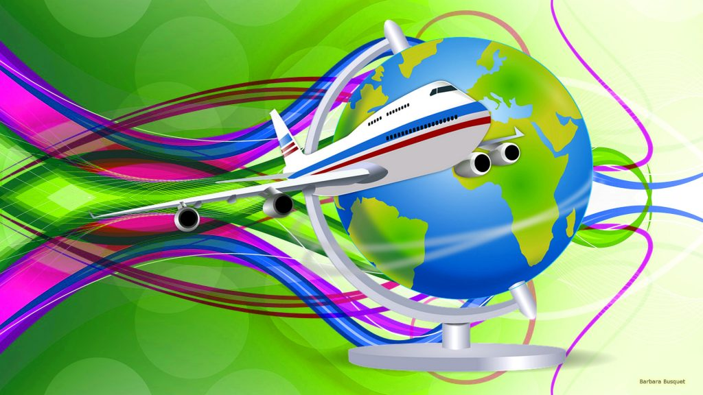 green-abstract-wallpaper-airplane-and-world-globe