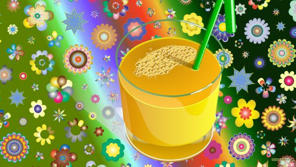 Summer wallpaper flowers and juice
