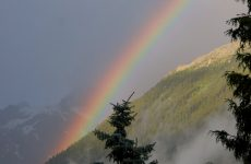 HD wallpaper rainbow in the mountains