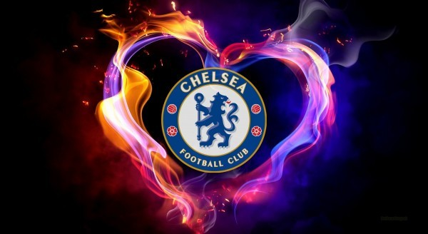 Chelsea wallpaper heart of flames