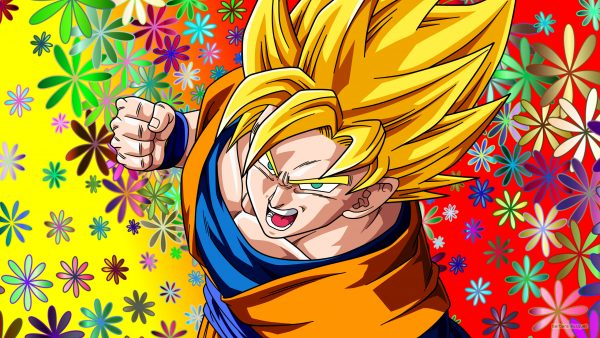 Dragon Ball wallpaper Goku with gold hair.