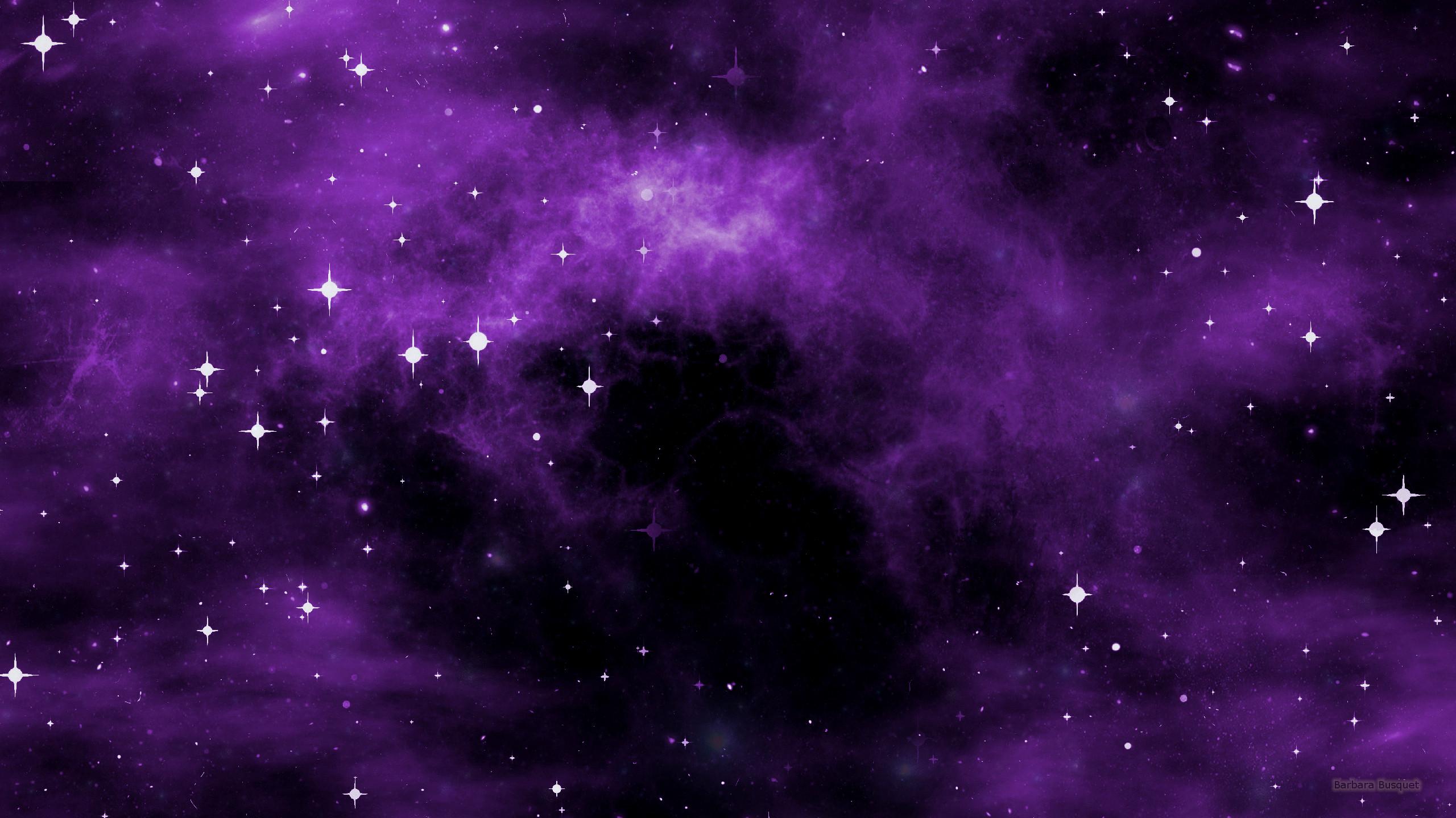 Galaxy wallpaper with purple nebula 1