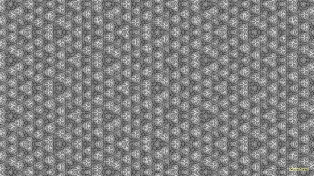 Gray wallpaper with irregular tiling pattern