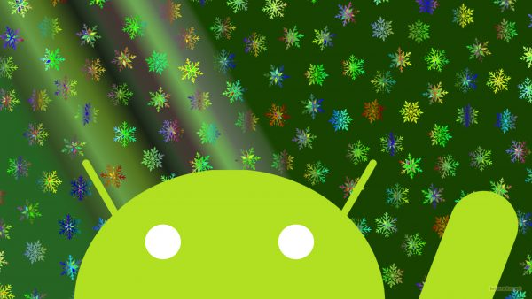 Green Android wallpaper with icicles
