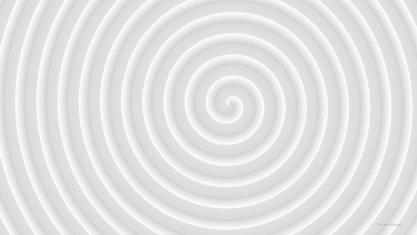Light gray spiral wallpaper.