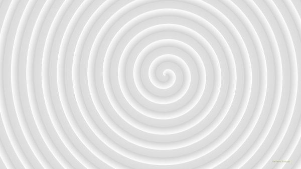 Light gray spiral wallpaper.