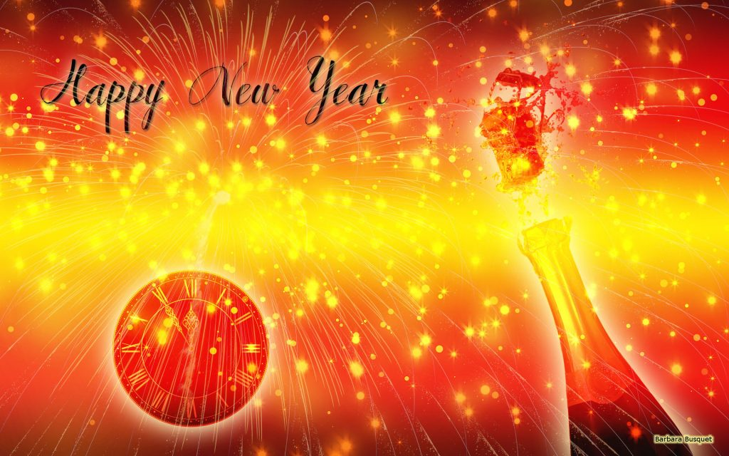 Red yellow New years eve wallpaper