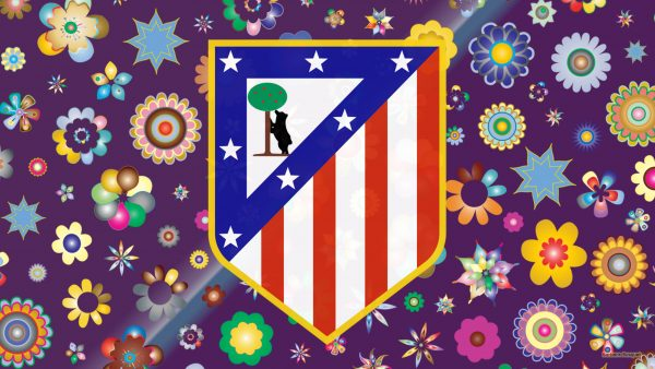 Purple Atletico Madrid wallpaper flowers