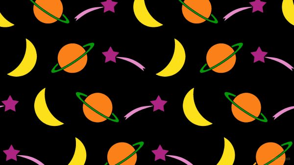 Space pattern wallpaper planets moon