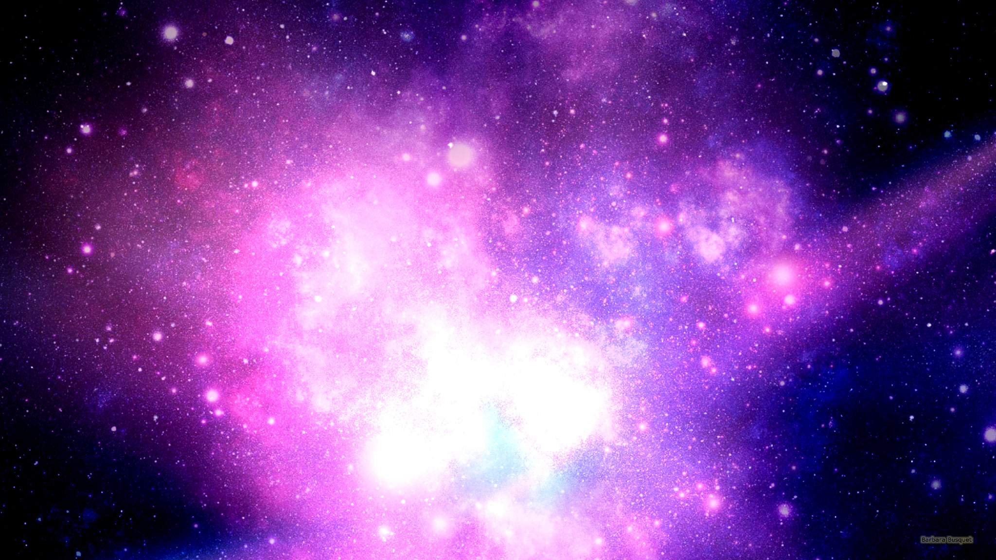 Space Wallpaper Purple Nebula