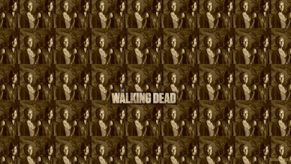 The walking dead tiles wallpaper Carol and Daryl