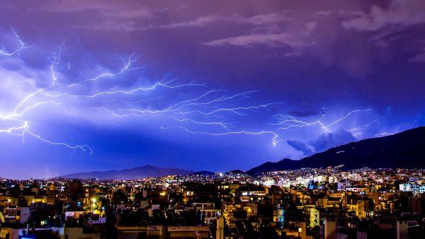 Thunder above a city