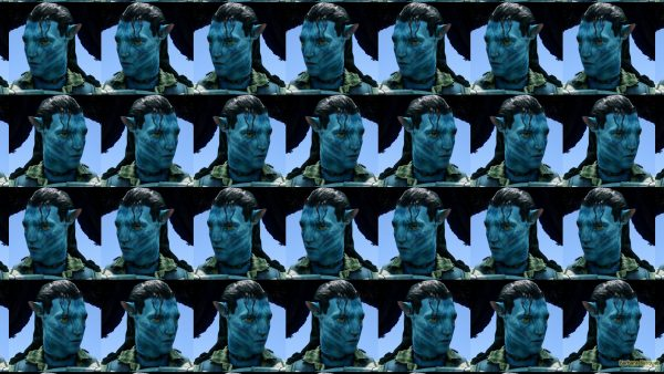 Tile wallpaper Jake Sully in Avatar