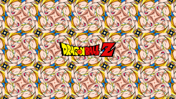 Tiles wallpaper with Goku of Dragon Ball Z.