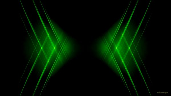 Abstract black wallpaper with green stripes.