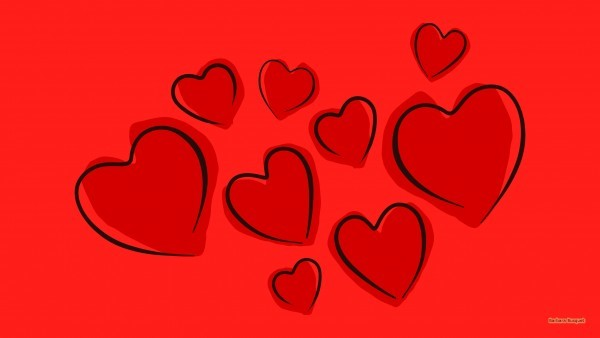 HD wallpaper with hearts