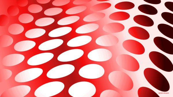 Red dots pattern wallpaper