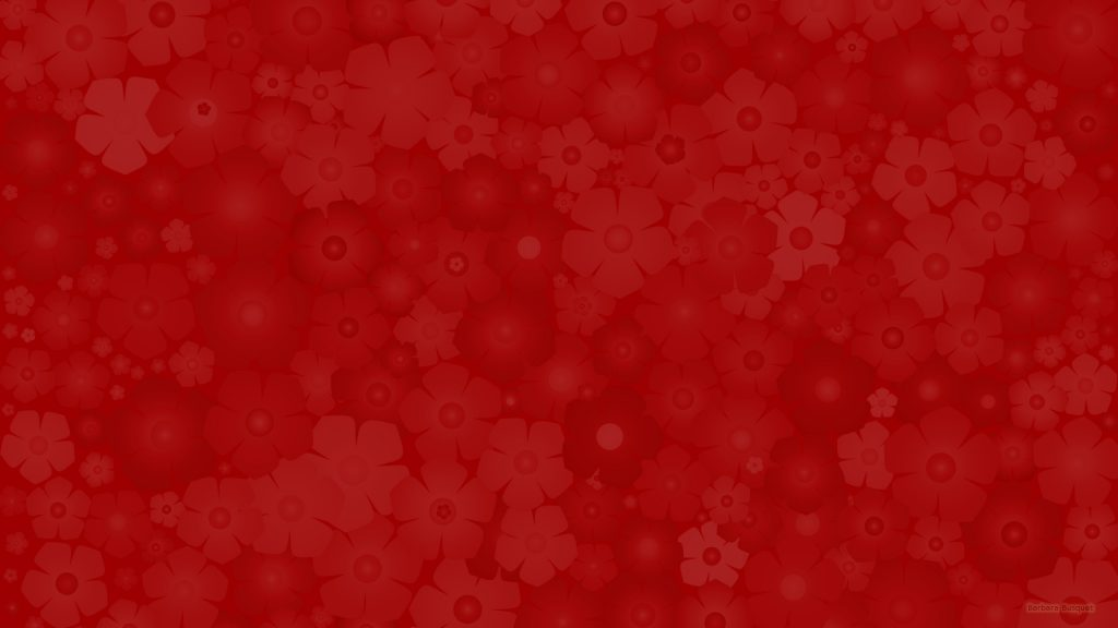 Dark red wallpaper with a subtile flower pattern.