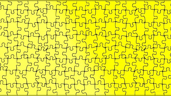 Yellow wallpaper jigsaw puzzle pattern