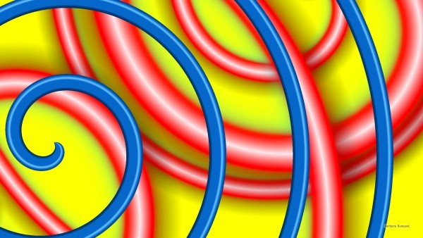 Abstract wallpaper with red blue and yellow colors