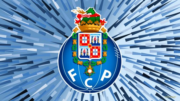 Blue Porto football logo wallpaper with spikes