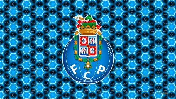 Blue abstract Porto emblem wallpaper