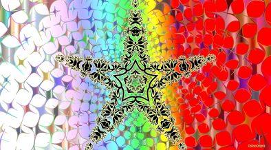 Colorful HD wallpaper big black star