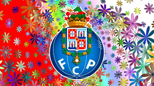 Colorful Porto football club wallpaper with flowers