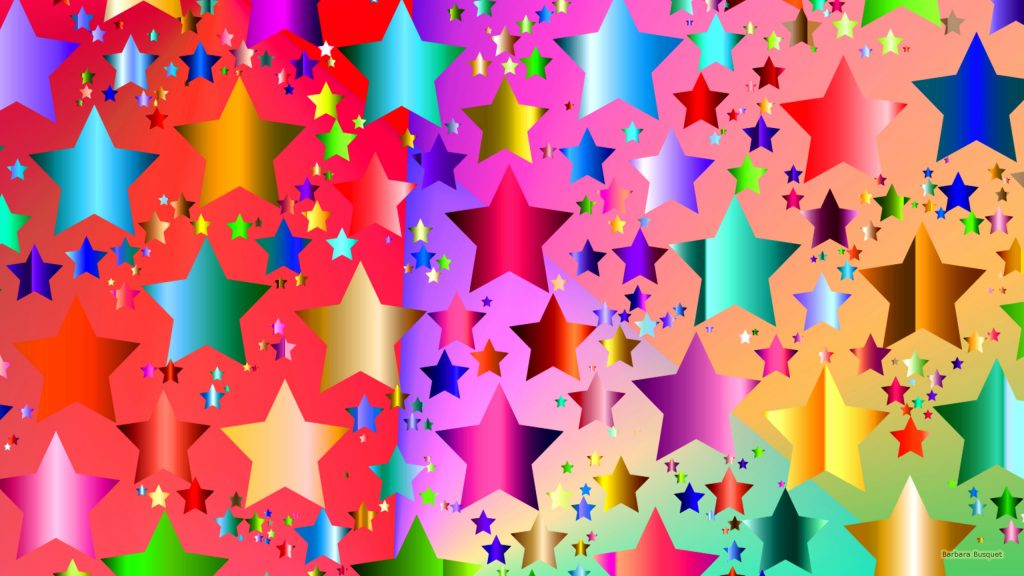 Colorful star pattern.