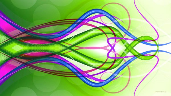 green-abstract-wallpaper-with-pink-and-blue-lines