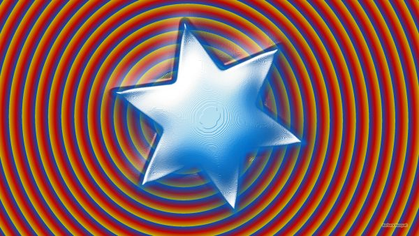 Spiral background and big blue star