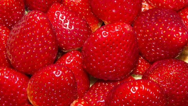 Close-up photo strawberries.