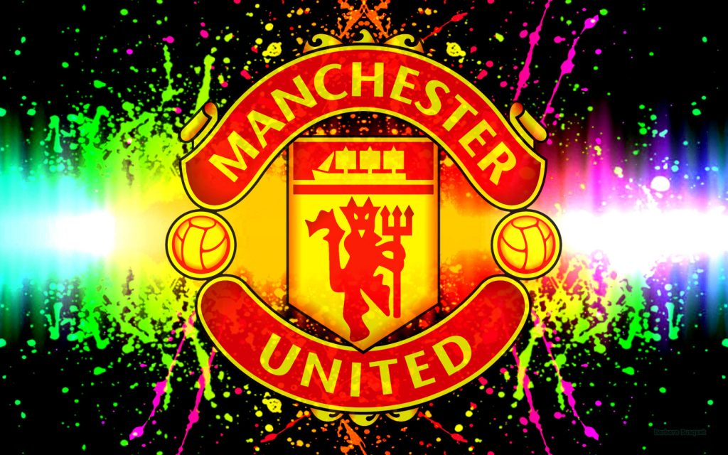 Colorful Manchester United football club wallpaper