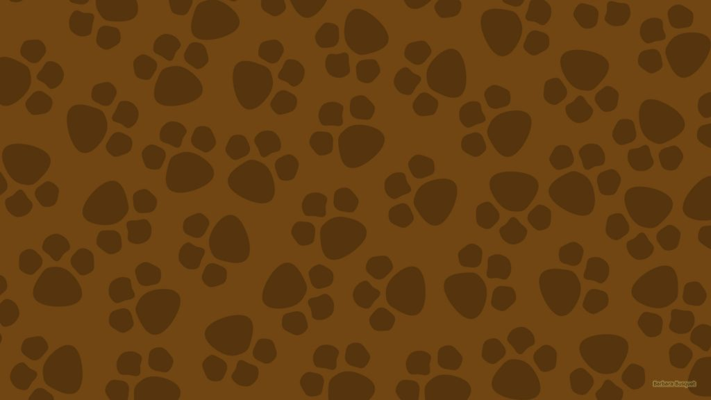 Brown wallpaper with paws.