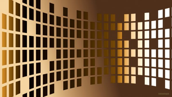 Brown wallpaper with rectangles