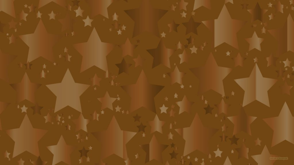 Brown wallpaper with stars.