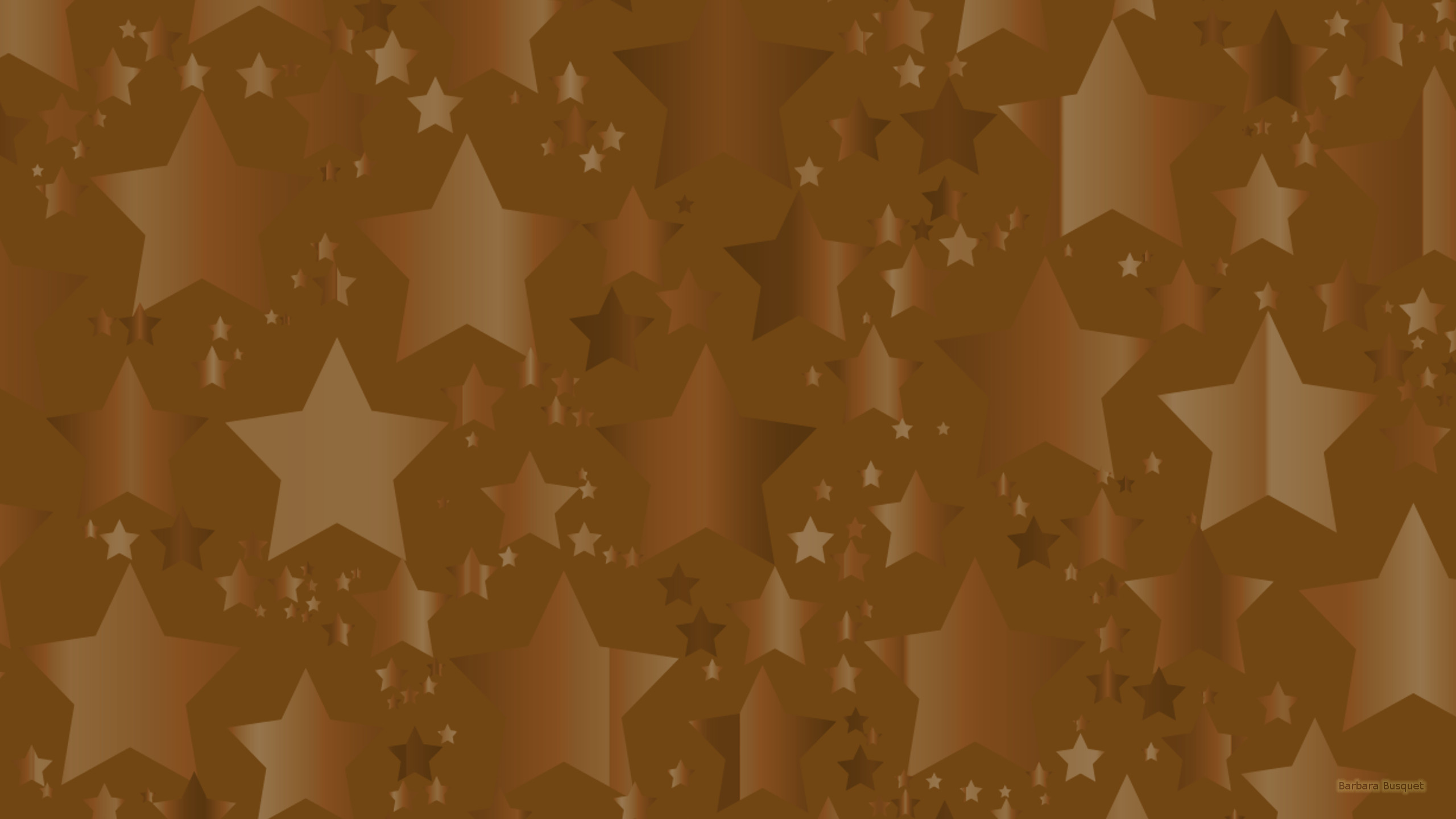 Brown Wallpaper With Stars