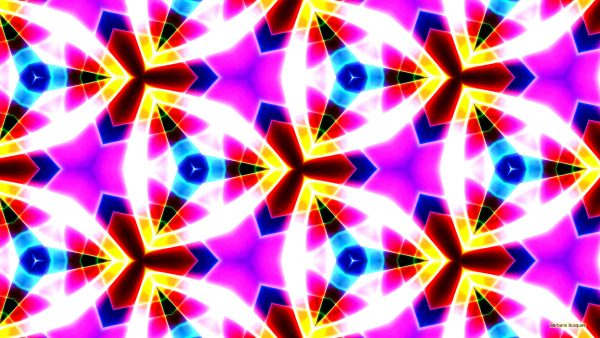 Luminous pattern wallpaper