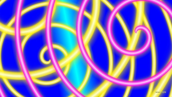 Abstract wallpaper blue pink and yellow