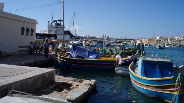 Boats in the harbor of Malta