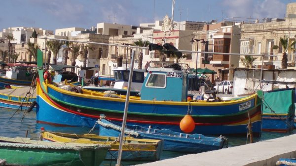 Big and smaller boats on Malta