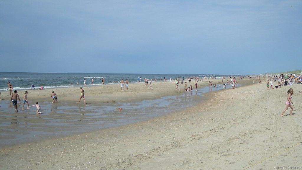 Dutch sand beach in summer