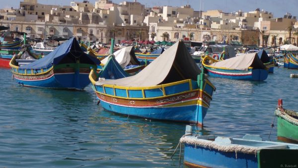 Boats in the water of Malta.