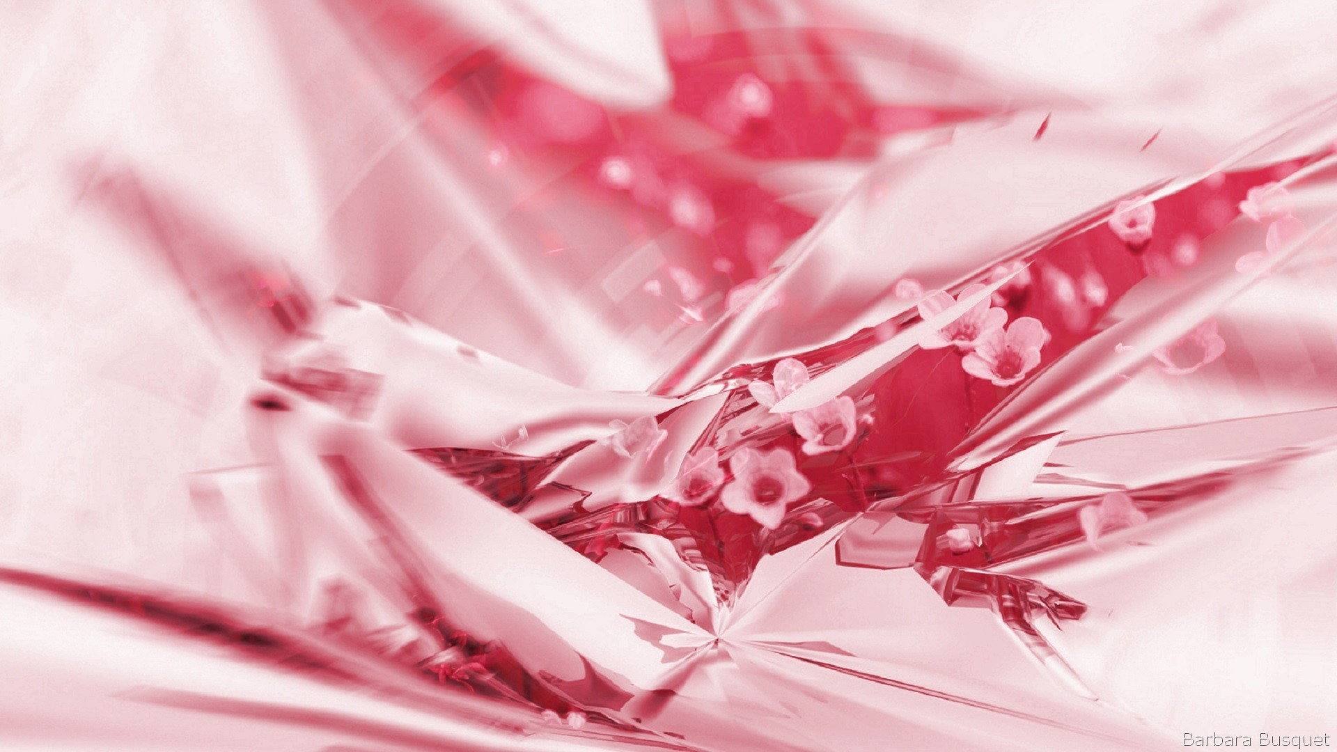 Pink Abstract Flowers Barbaras Hd Wallpapers