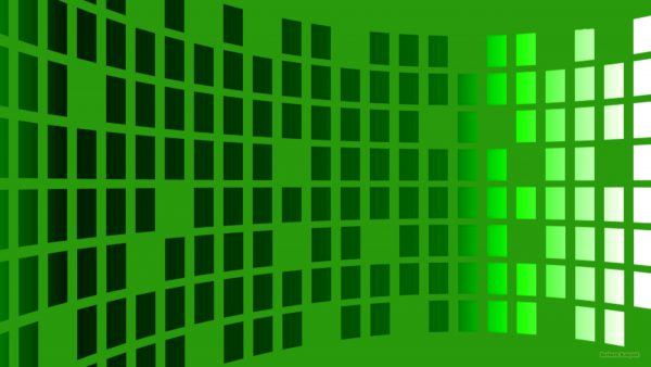 Green wallpaper with rectangles
