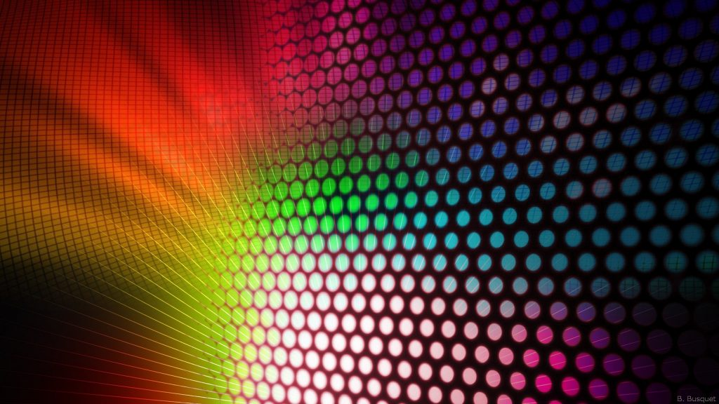 colorful image with circles and stripes