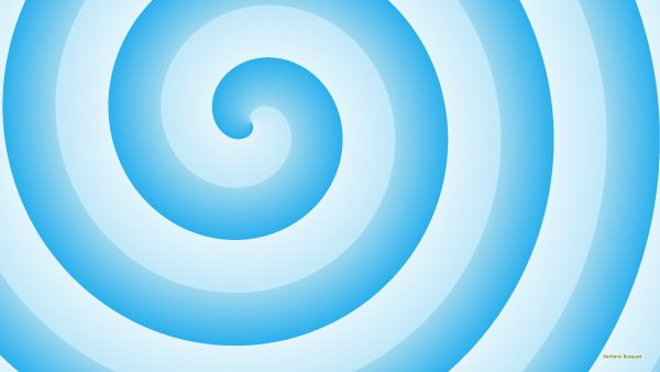 Blue spiral wallpaper.