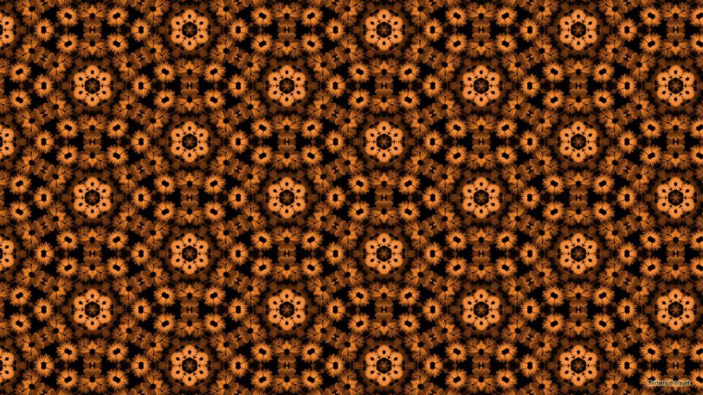 Brown flower pattern wallpaper